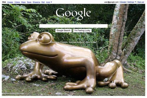 Google's custom background image