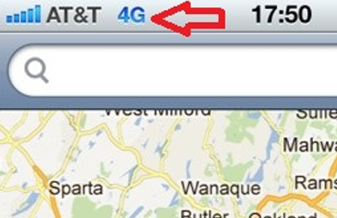 Apple iPhone 4S Starts Showing 4G Icon