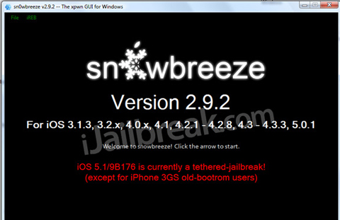 Post image for Download Sn0wBreeze v2.9.2 For Windows To Jailbreak iOS 5.1 Tethered
